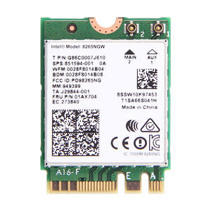 867mbps Network-Card 8265 Intel Dual-Band Wifi Bluetooth Wireless NGFF for Wlan