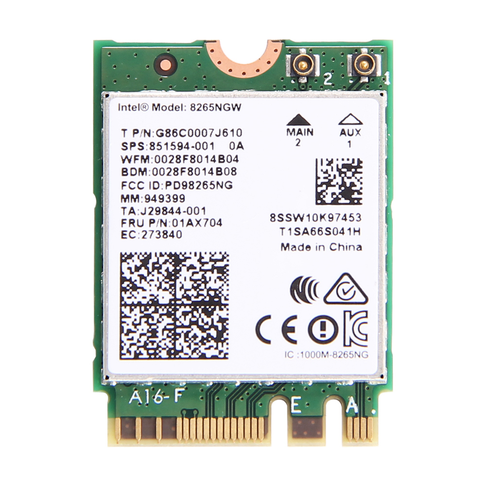Wireless Dual Band 2.4G/5G 867Mbps Wifi Card For Intel 8265NGW 802.11ac Bluetooth 4.2 8265 NGFF Wifi Wlan Network Card