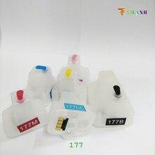6Pcs Refillable Ink Cartridges For HP 177 C8719 C8771 C7200 C7280 C8180 D5180 D7100 D7145 D7155 D7160  Printer