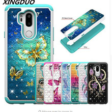 XINGDUO High quality 2-in-1 TPU + PC cover Fashion  Glitter diamond flash phone cases For iphone X XS XR MAX 6 7 8 Plus 6S