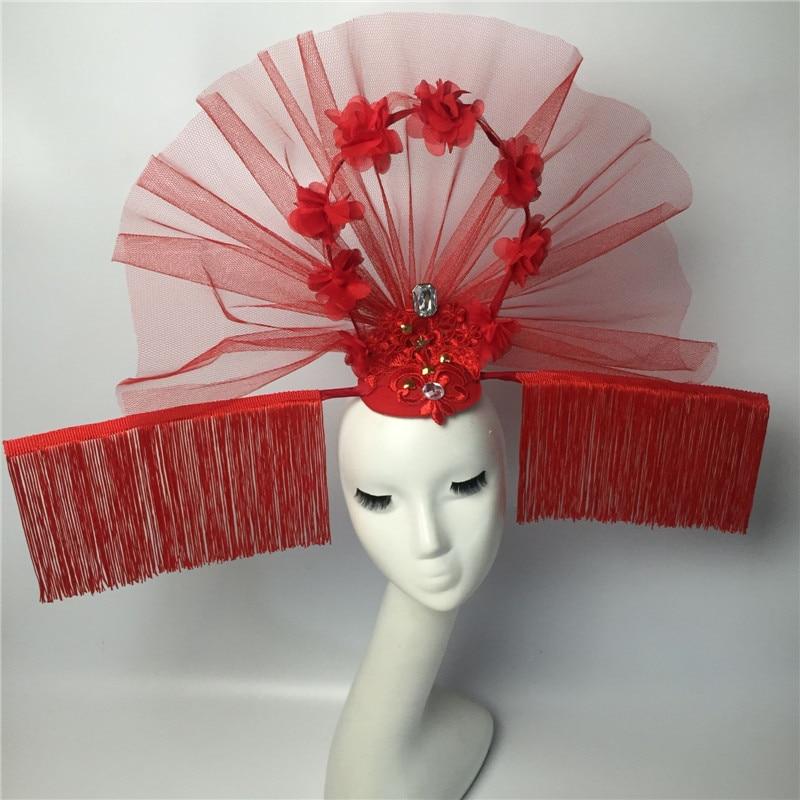 Wedding Party Performance Stage Flower Headwear Model Catwalk Dress Accessories Movie Acting Photo Props Headdress