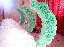 The new 2017 wedding props silk flower moon road lead, wrought iron crescent road, floral decoration history of the silk road