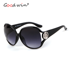 Good Win Retro Oversized Sunglasses For Women Classic Big Frame Logo Sun Glasses Luxury Gradient Beach Female Shades Lady