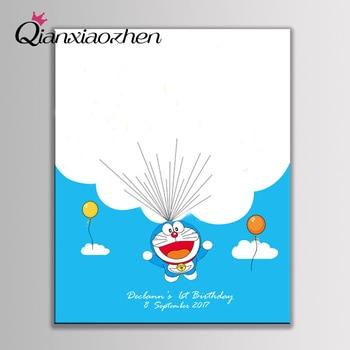 Qianxiaozhen Personalized Doraemon Fingerprint Guest Book Wedding Decoration Birthday Party Decorations Kids Adult Decor 1
