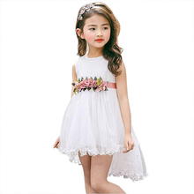 Summer Cute Baby Girls Floral Dress Princess Party Tulle Flower Dresses Toddler Infant Girls Mesh Tutu Dress Party Vestidos summer girl dresses cute baby girls party tutu clothes kids princess floral dress baby clothing vestidos costumes fashion
