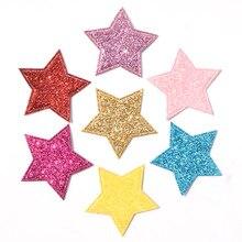 60 шт Смешанные блестящие кожаные патчи в форме звезды аппликация для рукоделия/одежды/шпильки принадлежности для скрапбукинга «сделай сам» K34