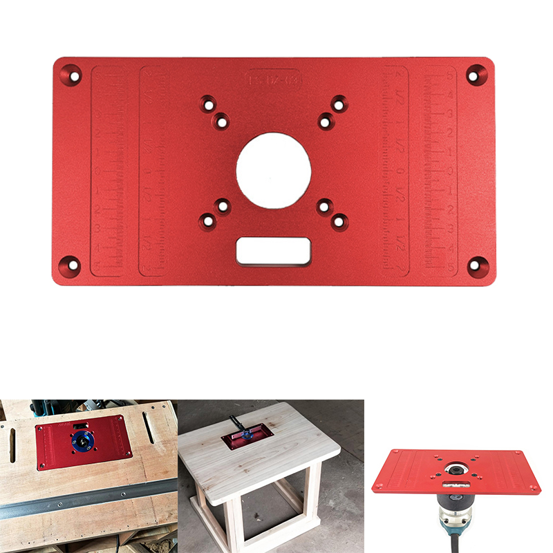 RT0700C Universal 2 In 1 Aluminum Router Table Insert Plate Router Table Plate For Woodworking Benches
