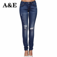 Alice Elmer Hole Ripped Jeans Women Jeans Woman Jeans For Girls Stretch Skinny Mid Waist Jeans