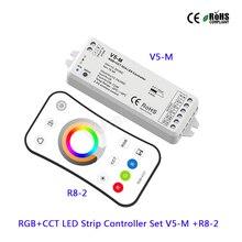 V5-M RGB+CCT 5CH LED Controller DC12-24V 15A led Receiver;R8-2 2.4G remote Strip for strip light