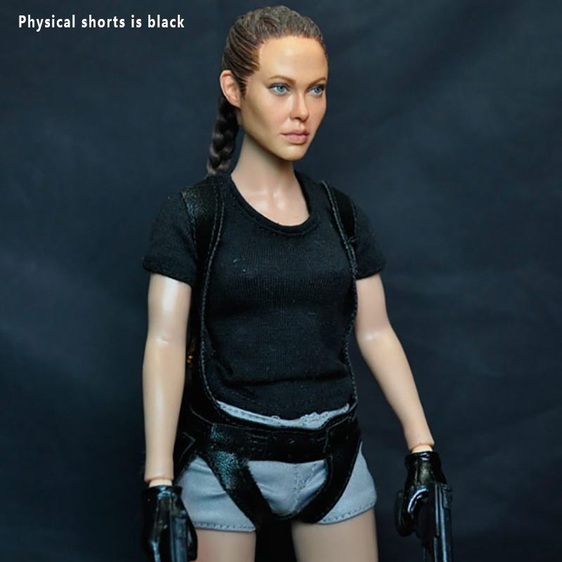 1:6th Scale Korean KUMIK KMF026 1/6 Angelina Jolie Lora Croft Tomb Raider 12Collectible Action Figure Hobby Doll Gift Toys