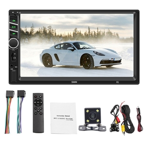 X1 7 Inch Car Mp5 Player Fm Radio Bt Aux Usb With Remote Control Colorful Lights High Press Capacitive Screen Player|CD Player|   -