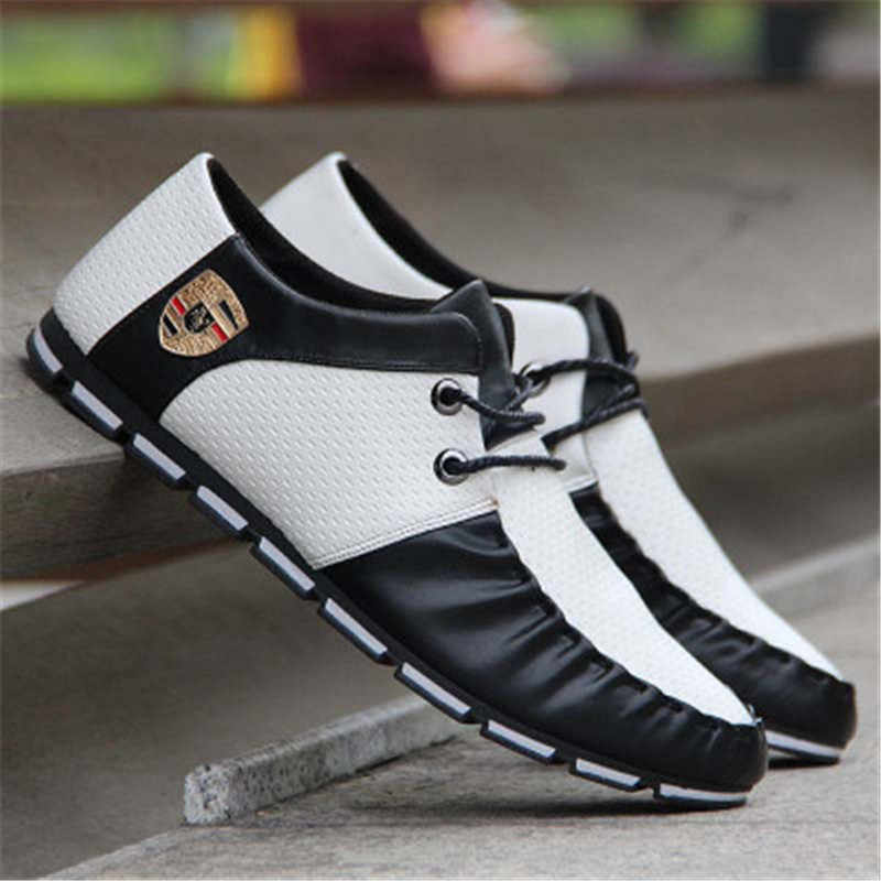 Mlcriyg, nuevos zapatos planos de pista para hombre, zapatos deportivos informales antideslizantes, 2020 Italia, versión plana Coreana de zapatos suaves de guisantes para hombres