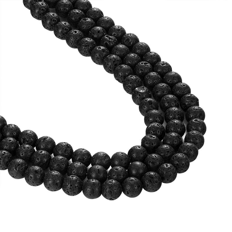 Ливви натуральный камень вулкан камень полу-Готовые Бусы шарики для DIY браслет ожерелье jewelry аксессуары оптом