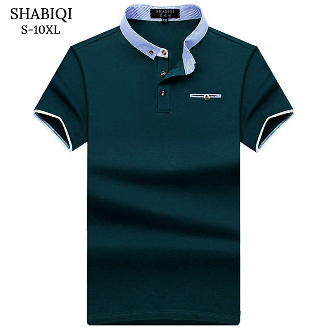 SHABIQI новая брендовая рубашка-поло мужская хлопковая модная карманная модель Camisa POLO Летние повседневные рубашки с коротким рукавом 6XL 7XL 8XL 9XL ...