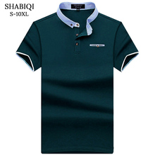 SHABIQI POLO Shirt Men Cotton Pocket models Camisa Polo Summer Short-sleeve  Casual 10f90fd5f0d10