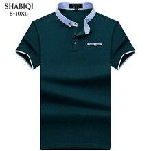 SHABIQI New Brand POLO Shirt Men Cotton Fashion Pocket models Camisa Polo Summer Short-sleeve Casual Shirts 6XL 7XL 8XL 9XL 10XL