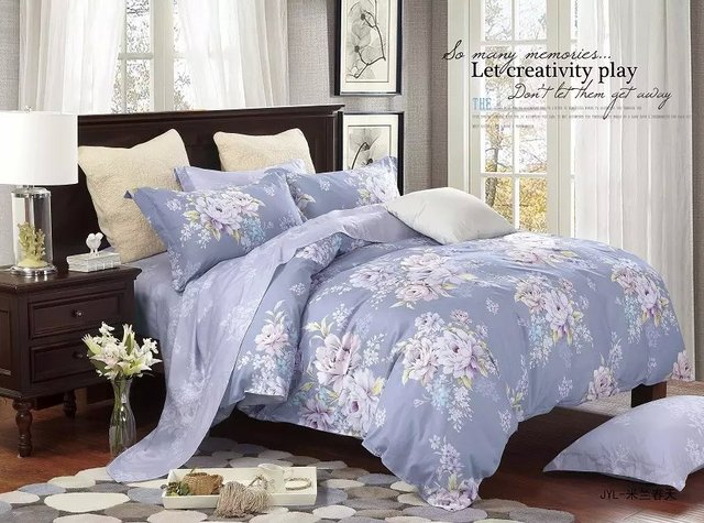 Awesome 3d Flower Printed Modern Bed Sheet Sets Luxury Wedding High Quality Bedding  Set King Size 100