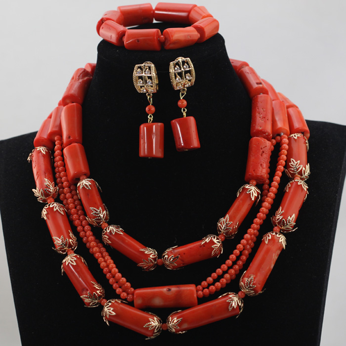 2016 Unique Design Trendy Peach Coral Beads Jewelry Sets African/Nigeria Party/Wedding Necklace Jewelry Set Free Shipping CJ752 цена