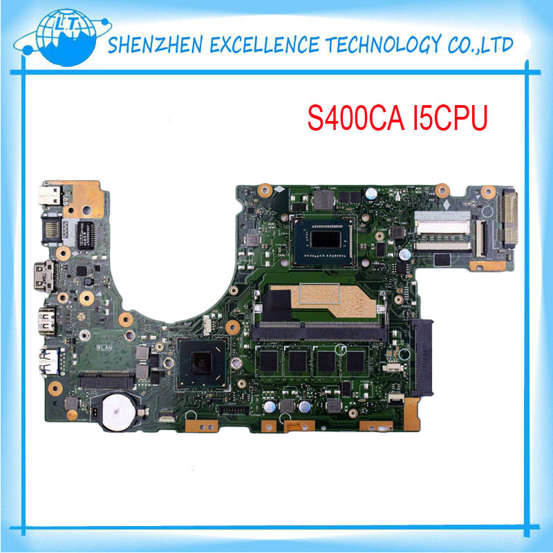 Original laptop motherboard for ASUS S400C S400CA REV3.1 I5cpu 4GB USB 3.0 DDR3 Fully tested