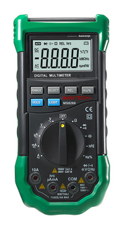 MASTECH MS8268 LCD Digital Multimeter Auto Range Full Protection AC/DC Ammeter Voltmeter NCV Electrical Tester multimetro esr vc99 auto range 3 6 7 digital multimeter 20a resistance capacitance meter voltmeter ammeter alligator probe thermal couple tk