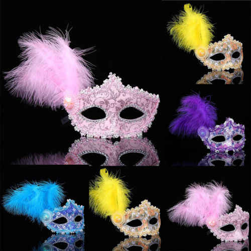 XMAS HOT Women Venetian Masquerade Mask Lace Stylish Chic Filigree Blue Metal Halloween Ball Prom Party New