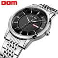 DOM Hombres mens relojes de primeras marcas de lujo de cuarzo resistente al agua reloj de acero inoxidable reloj hombre de Negocios M-11D