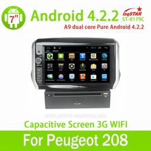 8″ 2 din android 6.0 car radio gps navigation for Peugeot 208 2008 multimedia 8G ROM OBD2 SWC DVD Dual core 3G Wifi audio RDS