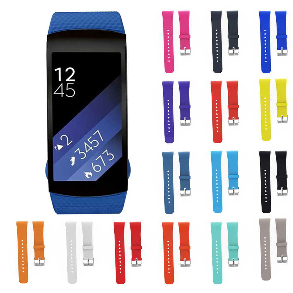 2016 Hot Sale WatchBands Luxury Silicone Watch Replacement Band Strap For Samsung Gear Fit 2 SM-R360 Watch Replacement WatchBand