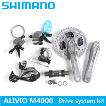 SHIMANO ALIVLO M4000 mountain bike shift kit Crank Sprockets 3X9 27 Speed Bicycle Parts The derailleur kit is free shipping