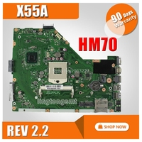 X55A Motherboard REV2.2 HM70 For ASUS X55A Laptop motherboard X55A Mainboard X55A Motherboard test 100% OK