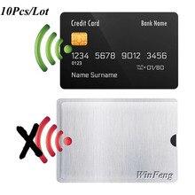 10 шт. алюминиевая фольга RFID блокирующий рукав Кредитная карта NFC карта IC ID карта RFID карта защита идентификационная кража защитный рукав