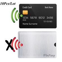10 sztuk folia aluminiowa RFID blokowanie rękaw karta kredytowa karta NFC IC ID karta karta RFID ochrona tożsamości ochrona przed kradzieżą rękaw