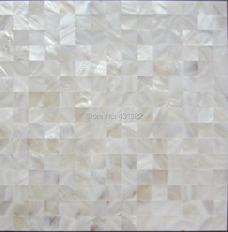 shell hyrx mosaico natural de color blanco nacarado azulejos superficie plana baldosas backsplash de la