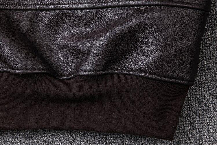 HTB1v9hgXzzuK1RjSspeq6ziHVXah 2019 Brown Men TOP GUN Pilot Leather Jacket Wool Collar Plus Size XXXL Genuine Cowhide Winter Russian Aviator Coat FREE SHIPPING