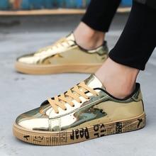 CNFIIA Fashion Shoes Men Skate Golden Black Sliver Footwear Male Designer Mens Casual Hot Sale Sneakers 2018 Autumn