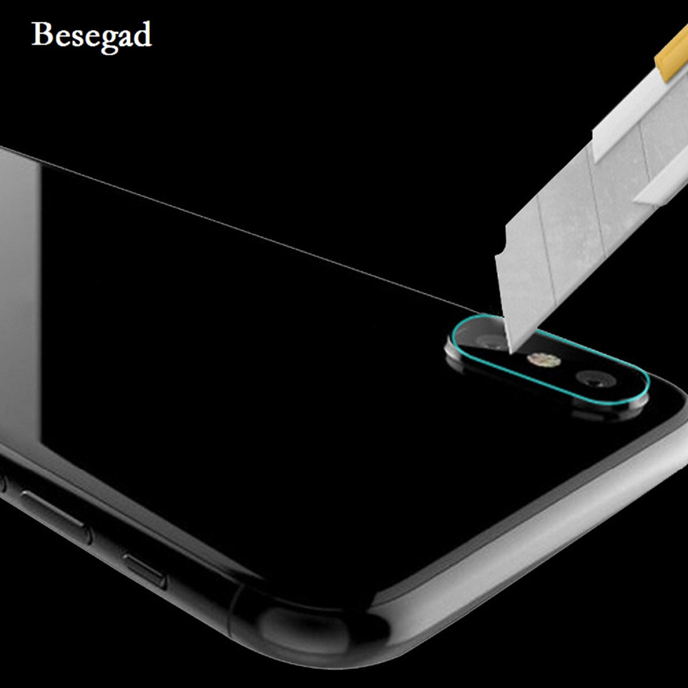 Besegad 5 PCS TPU HD Rear Camera Lens Protective Guard Cover Protector Film Anti-scratch Anti-shock for Apple iPhone X 10 Gadget Pakistan