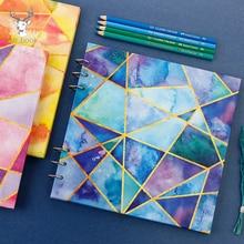 Ensemble de livres à peinture à laquarelle, carnet de croquis, cahier, papeterie scolaire, 40 feuilles de papier de dessin impressionniste