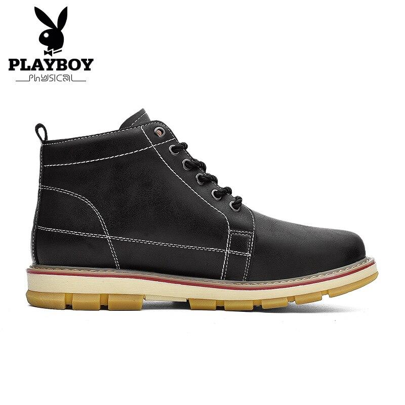 Masculino Boots Lace Plush Botas Preto Calçados De Para Quente O Sexo Segurança Dos Up marrom Playboy Ds87261 Homens Novo Antiderrapante Algodão Ankle Neve Inverno OqtwZTS