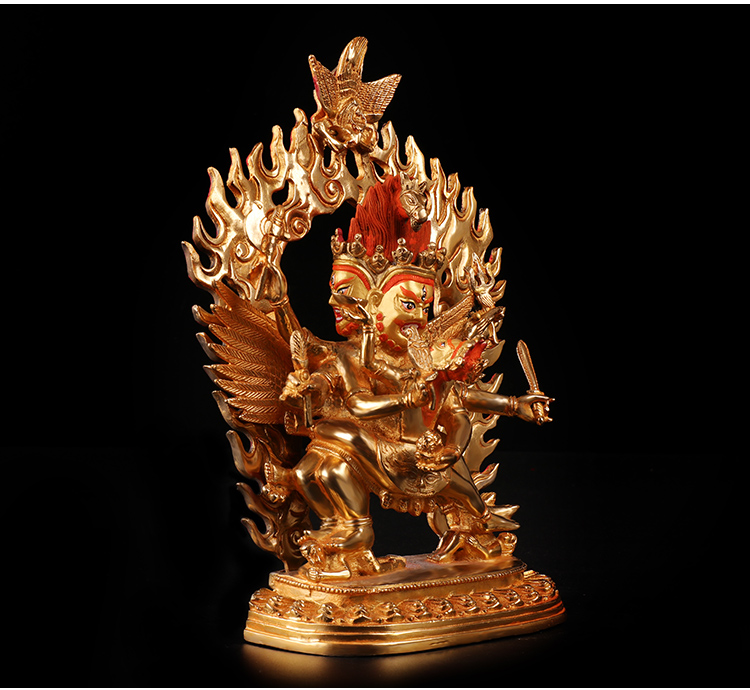 Wholesale Buddha # 10 Inch Efficacious HOME OFFICE House Protection  Talisman Buddhist Gilding Hayagriva Buddha Brass Statue In Statues U0026  Sculptures From ...
