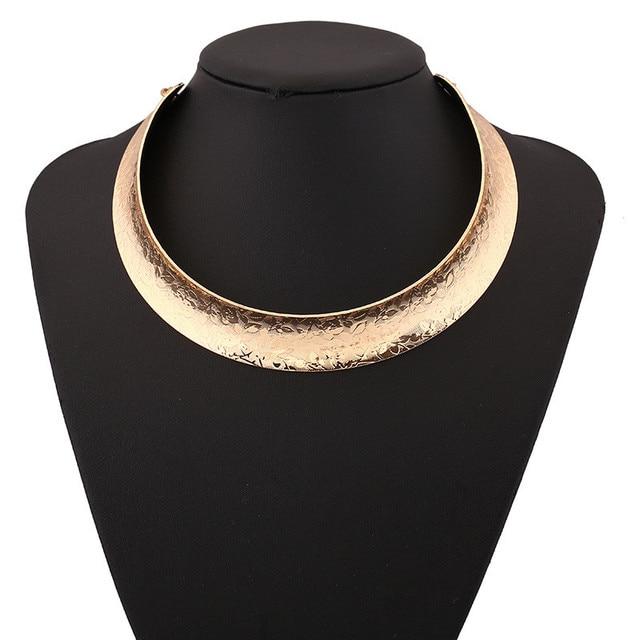 Lzhlq винтажное богемное ожерелье Макси чокер Большой Резной