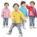 Novas Inverno Das Meninas do Menino Para Baixo Casaco Outerwear Crianças Casacos de Marca Para Baixo Algodão de Boa Qualidade Bebê Crianças Roupas Quentes para Os Meninos
