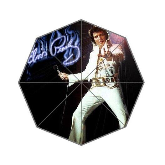 Fashion Design Umbrella Custom pop music star Elvis Folding Umbrella For Man And Women Free Shipping UPC-152