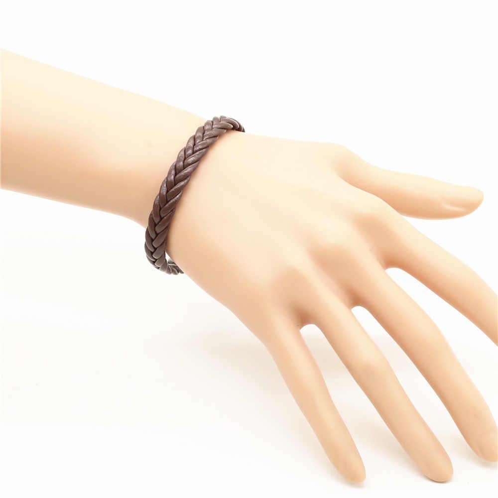 Handmade Trendy Friendship Bohemia Leather Weave Wrap Homme Men Bracelets for Women Jewellery Pulseras Erkek Bileklik Bijoux