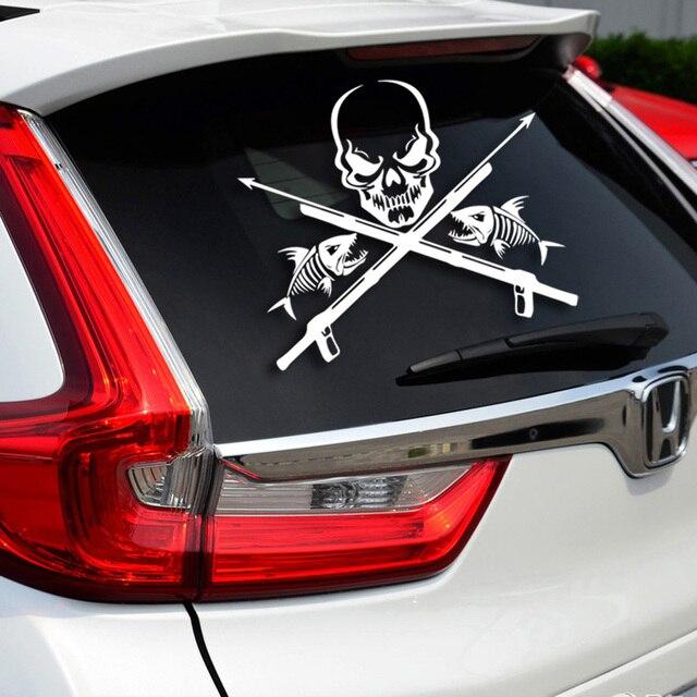 Skull And Fish Decoration Cool Car Hood Tail Side Door Window - Cool car decals designcar foil hood stickerscustom car body side sticker design buy