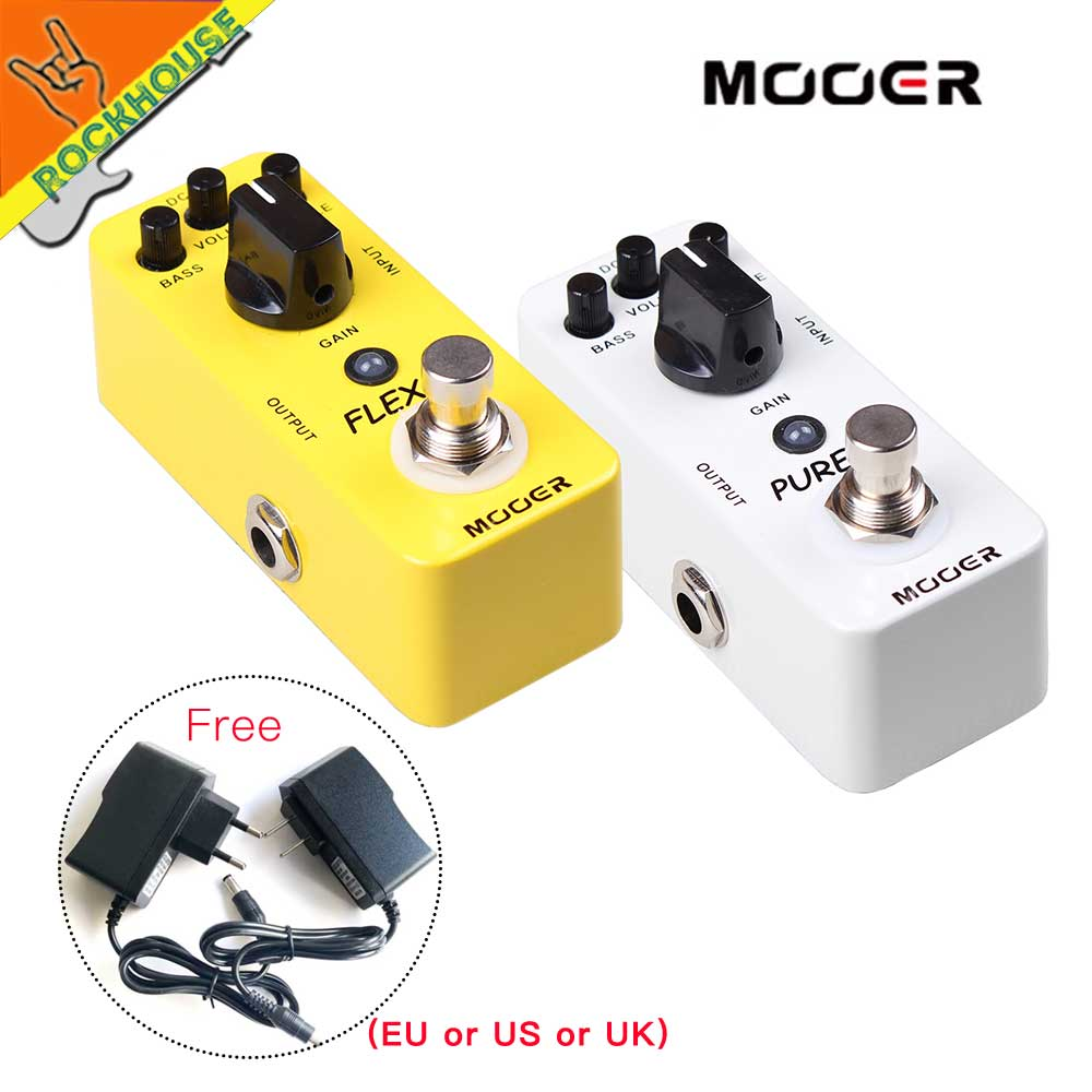 MOOER Pure Boost Clean Booster Guitar Pedal Acoustic Booster Enhance Presence Boost Output signal True Bypass free shipping mooer flex boost guitar pedal with wide gain range boost enough working along as a best overdrive