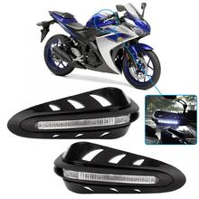 1 paar Universal Motorcycle Hand Guard Handvat Protector Shield met wit licht fit voor allerlei 22mm/ 28mm diameter stuur
