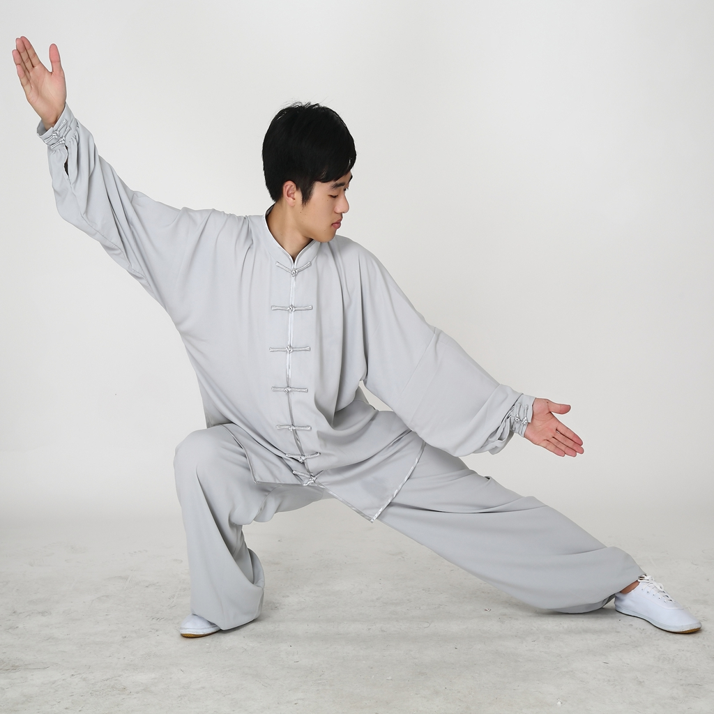 Terno Uniforme de Manga Comprida Uniformes Tai Chi Roupas Exercício