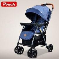 Легкая детская коляска, рама из алюминиевого сплава детская коляска, сложенная детская коляска с колеса из пенорезины, двухсторонняя детск