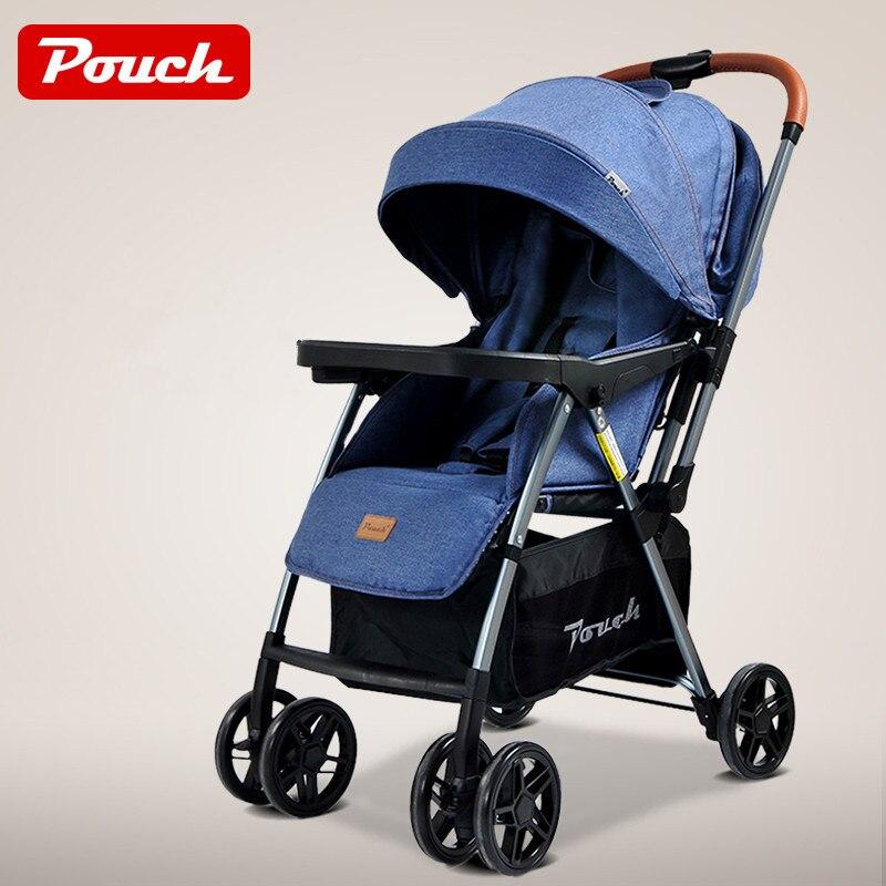 Poussette légère de bébé, chariot de bébé de cadre d'alliage d'aluminium, landau plié de bébé avec la roue d'eva, poussette bidirectionnelle de bébé de poussée