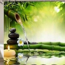 Водонепроницаемая занавеска для душа с крючками, зеленая сцена, занавеска для ванной, высокое качество, занавеска для ванной, для украшения дома или коврика